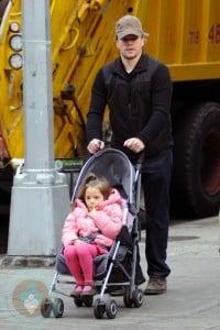Isabella with Matt Damon