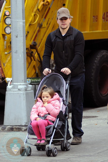 Isabella with Matt Damon