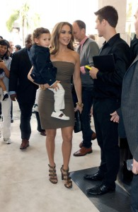 Jennifer Lopez with son Max @ Gucci Launch