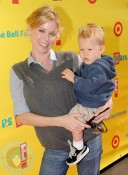 Julie Bowen and son