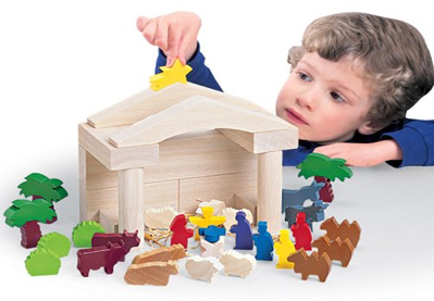 Constructive Playthings Wood Nativity Block Set