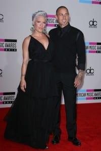 Pink & husband Carey Hart arriving @ American Music Awards