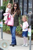 Jennifer Garner with daughters Seraphina & Violet