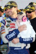 Jimmie Johnson with daughter Genevieve Marie