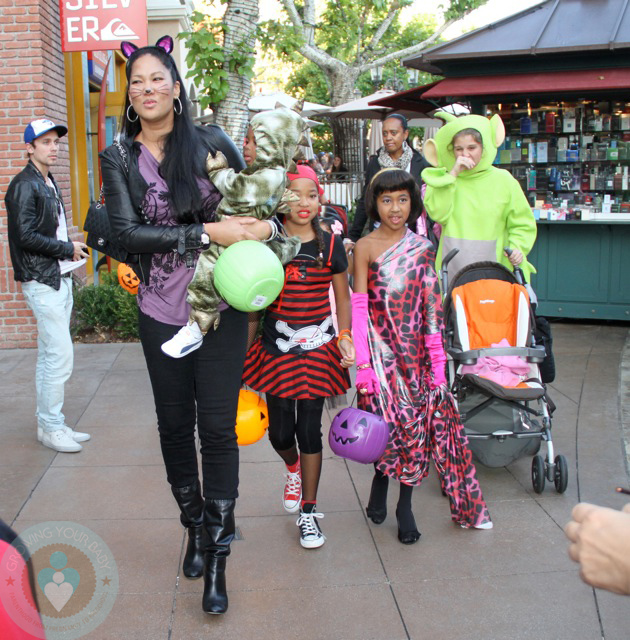 Kimora Lee Simmons & son Kenzo with Ming and Aoki