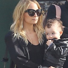 Nicole Richie & Joel Madden Go Downtown With Harlow & Sparrow