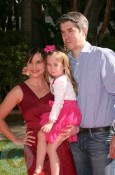 Kellie Martin, daughter Margaret Heather Christian and husband Keith Christian