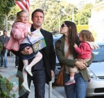 Ben Affleck and  Jennifer Garner with daughters Seraphina & Violet