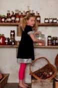 Velvet Dress with Sequined trim