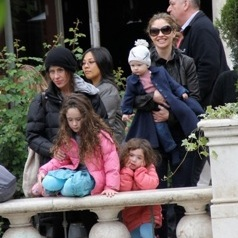 PlayDate! Soleil Moon Frye and Rebecca Gayheart Shop With Their Girls At The Grove