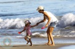 Halle Berry and daughter Nahla at the Beach in Malibu