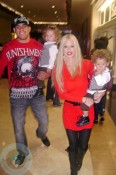 Tito Ortiz and Jenna Jameson with Jesse and Journey