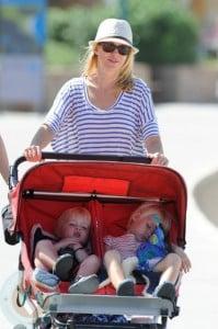 Naomi Watts with sons Sasha(r) and Sammy(l)