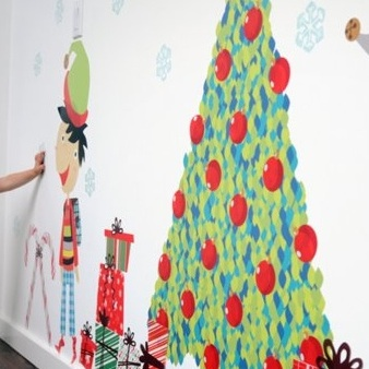 pop & lolli's Jingle Bells! & Christmas Smells!~ Funky Fabric Wall Decals with a Christmas Twist!