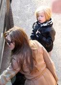 Angelina Jolie with Shiloh at Paris Aquarium