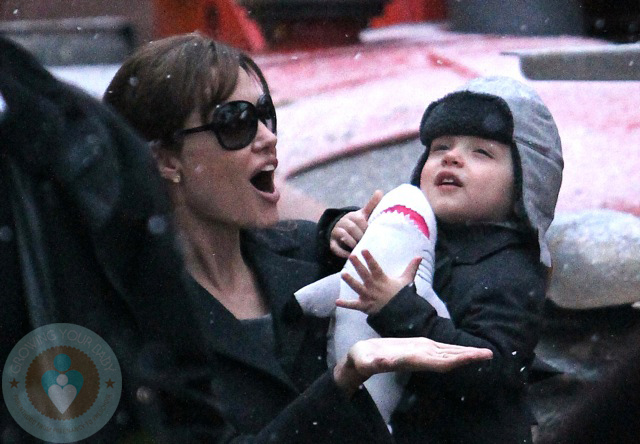Angelina Jolie with son Knox at Paris Aquarium
