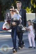 Ben Affleck, Jennifer Garner With Girls Seraphina & Violet