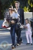 Ben Affleck, Jennifer Garner With Girls Seraphina & Violet