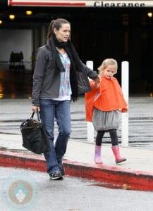 Jennifer Garner with daughter Violet