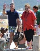 David Furnish and Sir Elton John in St