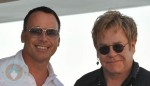 David Furnish and Sir Elton John in St. Tropez