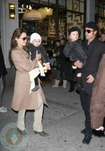Angelina Jolie & Brad Pitt With Knox & Vivienne