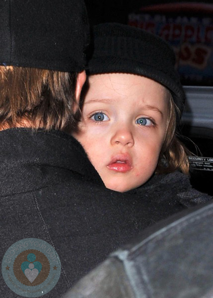 Angelina Jolie Vivienne And Knox. Art Time For Angelina Jolie,