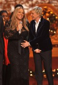 Mariah Carey with Ellen DeGeneres At White House Christmas Special
