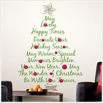 Easy Holiday Decor ~ 9 Cool Christmas Tree Wall Decals!