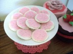 Tea Party Pink Felt Cookies with Sprinkles