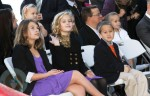 Ava and Deacon Philippe watching their mom accept her star!