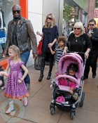Seal and Heidi with Leni, Henry and Lou in the stroller