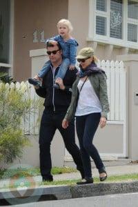 Liev Schreiber and Naomi Watts with son Sasha