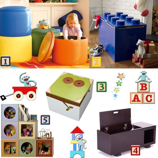 1. P'Kolino Ottoman Storage ... - Toy Storage ~ 10 Ways To Get Organized After The Holidays
