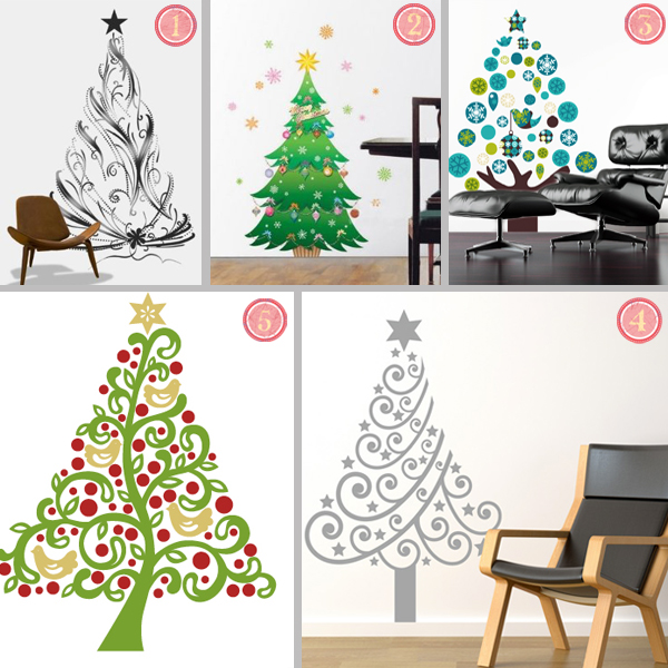 Cool Christmas Wall Decor : Easy holiday decor cool christmas tree wall decals