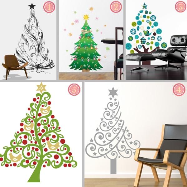 Cool Christmas Wall Decor : Easy holiday decor cool christmas tree wall decals
