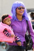Christina Milian with daughter Violet halloween