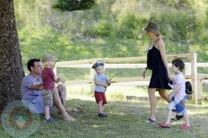 Naomi Watts,  husband Liev Schrieber and their sons Sasha and Samuel