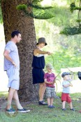 Naomi Watts,  husband Liev Schrieber and their sons Sasha and Samuel