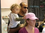 Kendra Wilkinson with husband Hank and their son