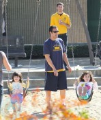 Adam Sandler with daughter Sadie and Sunny
