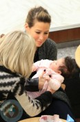 Rachel Stevens with her mom and daughter Amelie
