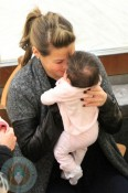 Rachel Stevens and daughter Amelie