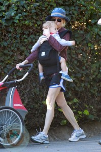 Julie Bowen with twin sons Gus and Johnny
