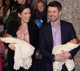 Crown Prince Frederik and Crown Princess Mary of Denmark Introduce Us To Their Twins