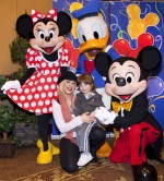 Christina Aguilera and son Max at Disneyland