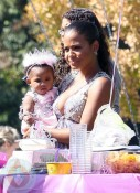 Christina Milian with daughter Violet October 03/10