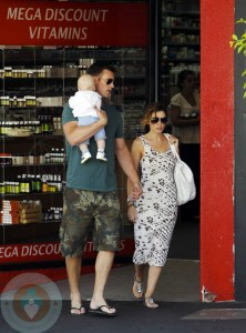 Danni Minogue, boyfriend Kris Smith and their son Ethan