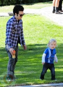 Pete Wentz and son Bronx