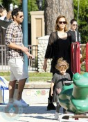 Jessica Alba with husband Cash Warren and daughter Honor Marie Warren